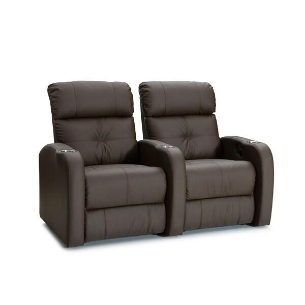 shop palliser terra brown manual recline home theater seating row