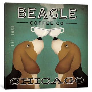 iCanvas Beagle Coffee Co. by Ryan Fowler Canvas Print