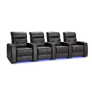 Palliser Mirage Leather Home Theater Seating Power Recline - Row of 4, Brown