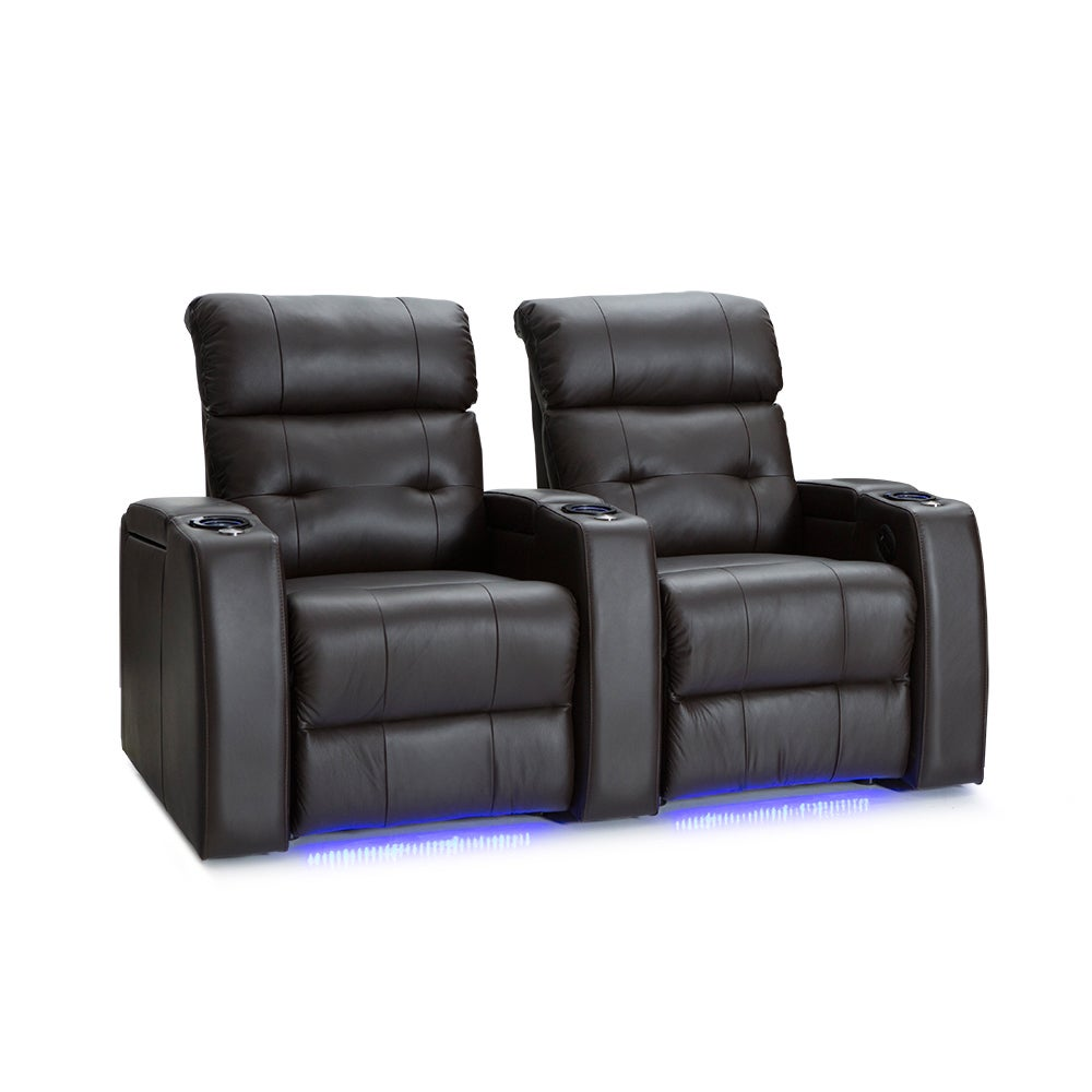 Palliser Mirage Leather Home Theater Seating Power Reclin...