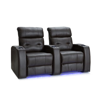 Palliser Mirage Leather Home Theater Seating Power Recline - Row of 2, Brown