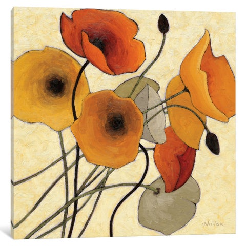 iCanvas Pumpkin Poppies II by Shirley Novak Canvas Print