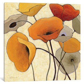 iCanvas 'Pumpkin Poppies III' by Shirley Novak Canvas Print
