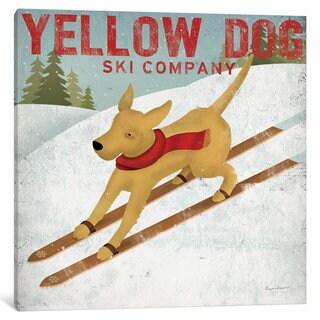 iCanvas 'Yellow Dog Ski Co.' by Ryan Fowler Canvas Print