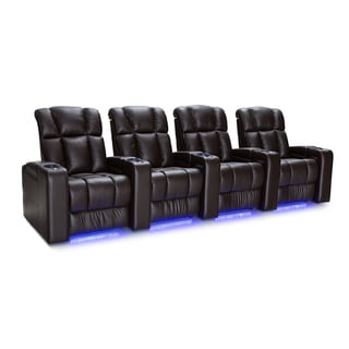 Palliser Collingwood Leather Home Theater Seating Power Recline - Row of 4, Brown