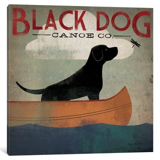 iCanvas Black Dog Canoe Co. II by Ryan Fowler Canvas Print