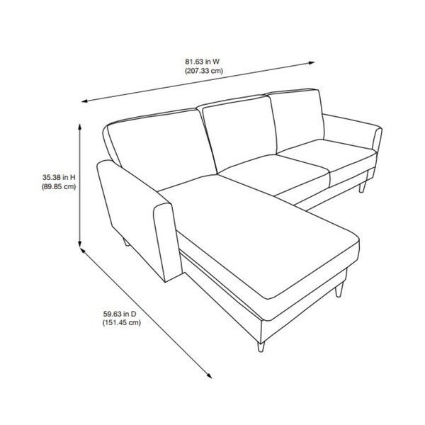 Dorel Living Kaci Grey Sectional Sofa - Free Shipping Today - Overstock.com - 21887169  sc 1 st  Overstock.com : sofa sectional drawing - Sectionals, Sofas & Couches