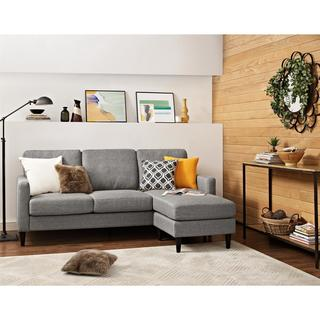 Dorel Living Kaci Grey Fabric Wood Sectional Sofa