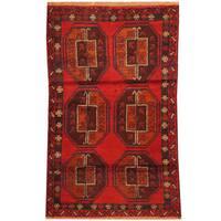 Herat Oriental Afghan Hand-knotted Tribal Balouchi Wool Rug (2'10 x 4'6)