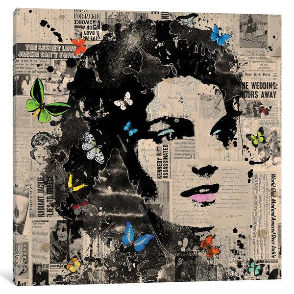 iCanvas Jackie O. by VeeBee Canvas Print