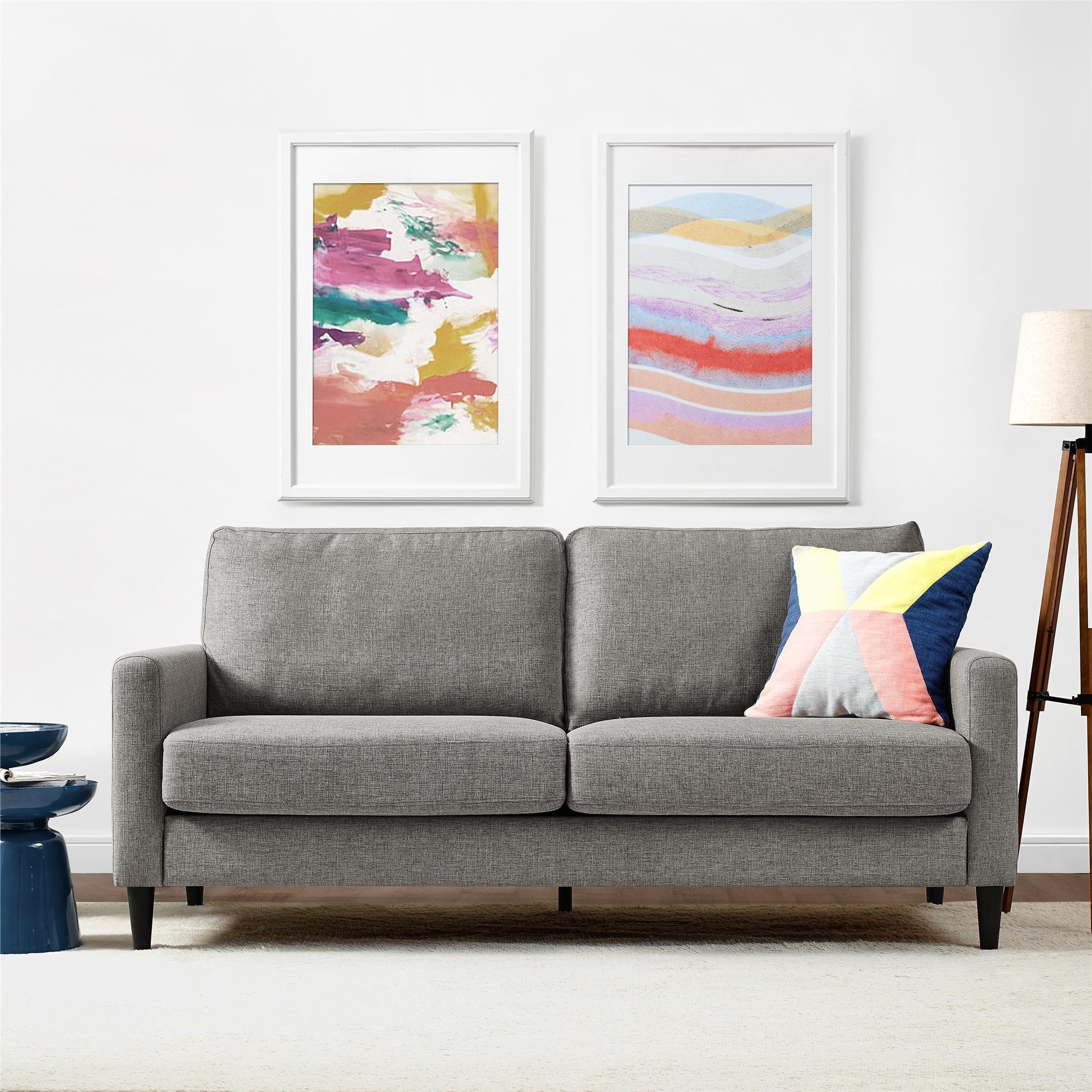 Dorel Asia Dorel Living Kaci Grey Sofa (Sofa, grey) (Fabric)