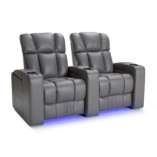 Palliser Collingwood Leather Home Theater Seating Power Recline - Row of 2, Grey