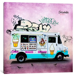 iCanvas 'Ice Cream Truck' by Tim Jarosz Canvas Print