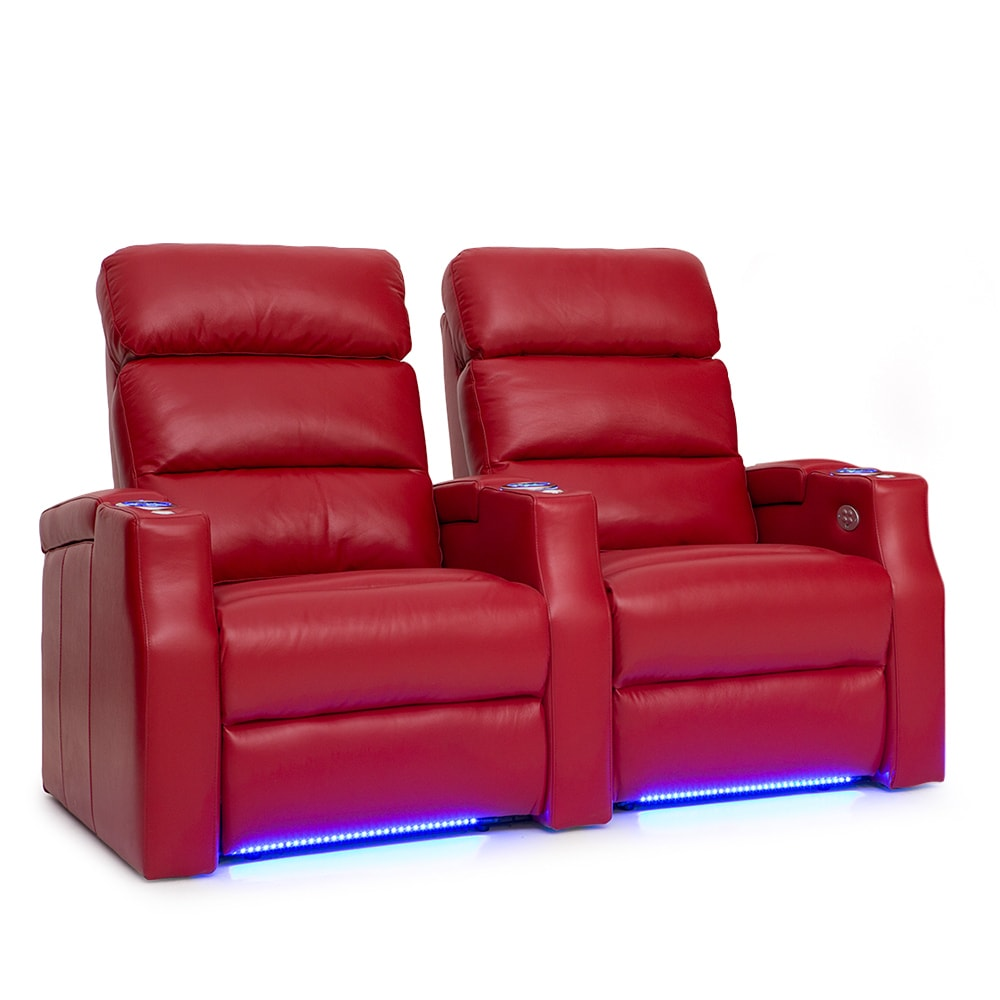 Barcalounger Matrix Leather Home Theater Seating Power Re...