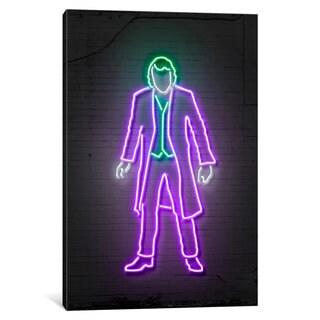 iCanvas 'Neon Luminosity Series: Joker' by Octavian Mielu Canvas Print