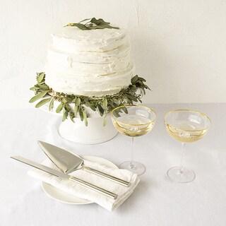 Gold Love Coupe Flutes & Cake Serving Set