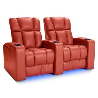 Palliser Collingwood Leather Home Theater Seating Power Recline - Row of 2, Red