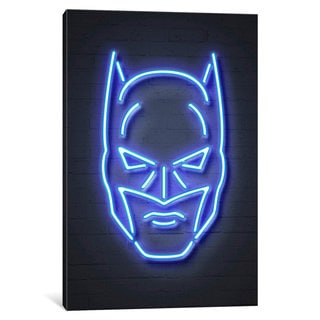 iCanvas 'Neon Luminosity Series: Batman' by Octavian Mielu Canvas Print