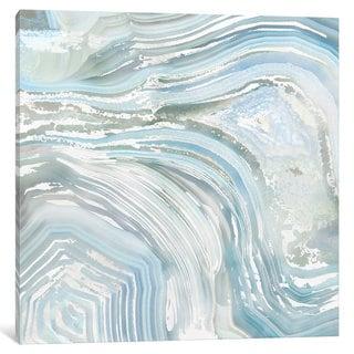 iCanvas Agate in Blue II by Nan Canvas Print