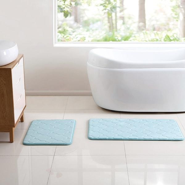VCNY Home Kaydence 2 Piece Memory Foam Bath Rug Set