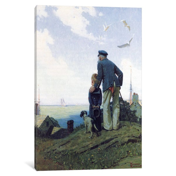 Icanvas The Stay At Homes By Norman Rockwell Canvas Print