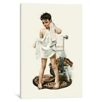 iCanvas 'C-L-E-A-N' by Norman Rockwell Canvas Print