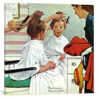 iCanvas 'First Trip to the Beauty Shop' by Norman Rockwell Canvas Print