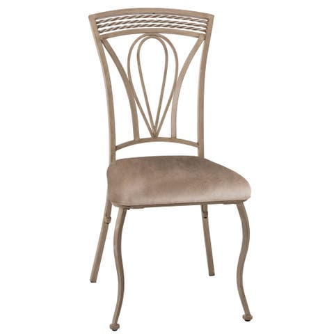 """Hillsdale Furniture Napier Aged Ivory Finish Dining Chair (Set of 2) - 22.75""""W x 19""""D x 38.88""""H"""