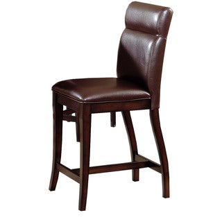 Hillsdale Furniture Nottingham Curved Non-Swivel Counter Height Stool Set of 2 in Dark Walnut Finish