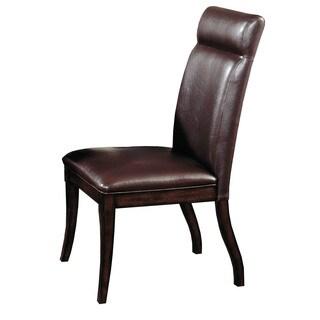 Hillsdale Furniture Nottingham Side Chair Set of 2 in Dark Walnut FInish