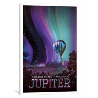 iCanvas Visions Of The Future Series: Jupiter by NASA Canvas Print