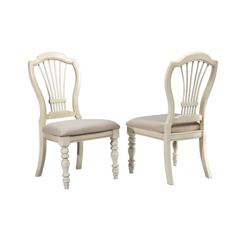 Hillsdale Furniture Pine Island Wheat Back Old White Finish Side Chair (Set of 2)