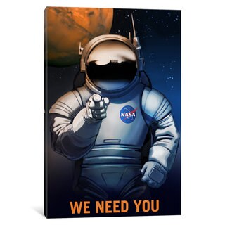 iCanvas 'Mars Explorer Series: We Need You' by NASA Canvas Print