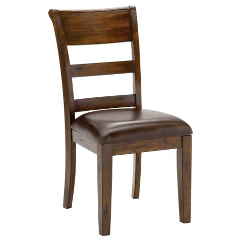 Hillsdale Furniture Park Avenue Dark Cherry Vinyl and Wood Dining Chair (Set of 2)