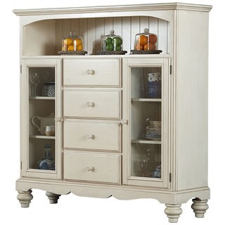 Hillsdale Furniture Pine Island Old White Wooden 4-drawer Baker's Cabinet