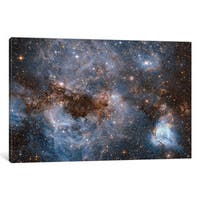 iCanvas 'Maelstrom Of Glowing Gas And Dark Dust, Papillon Nebula, N159' by NASA Canvas Print