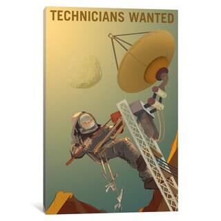 iCanvas 'Mars Explorer Series: Technicians Wanted' by NASA Canvas Print