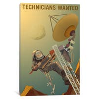 iCanvas 'Mars Explorer Series: Technicians Wanted' by NASA Canvas Print