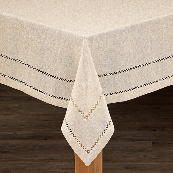 Hemstitch Tablecloth Collection   Free Shipping On Orders Over $45    Overstock.com   21887181