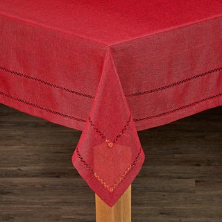 Hemstitch Tablecloth Collection (Option: Tan)