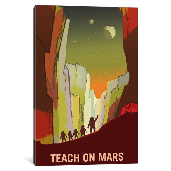 iCanvas Mars Explorer Series: Teach On Mars by NASA Canvas Print