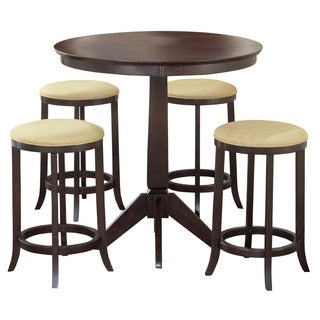 Hillsdale Furniture Tiburon Espresso Finish Wood Pub Table with 4 Backless Stools
