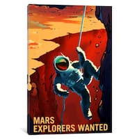 iCanvas 'Mars Explorer Series: Explorers Wanted' by NASA Canvas Print