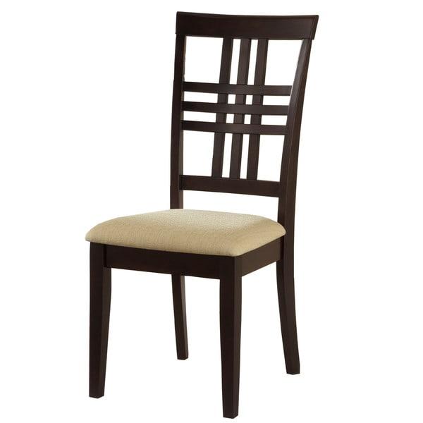 Hilale Furniture Tiburon Espresso Finish Side Dining Chairs Set Of 2