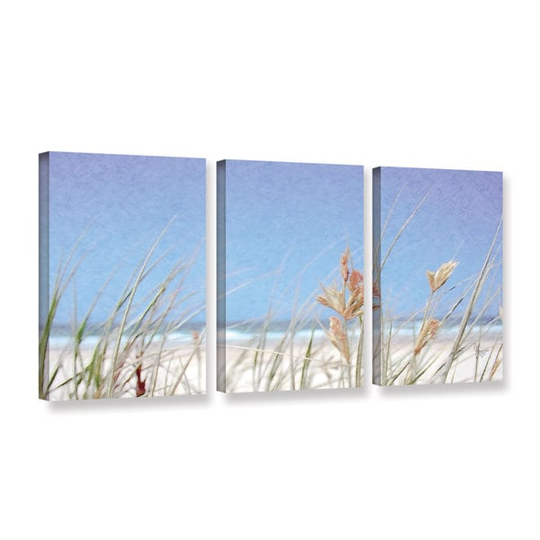 Scott Medwetz's 'Beach Palms' 3 Piece Gallery Wrapped Canvas Set