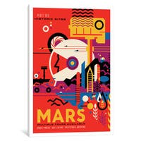 iCanvas 'Visions Of The Future Series: Mars' by NASA Canvas Print