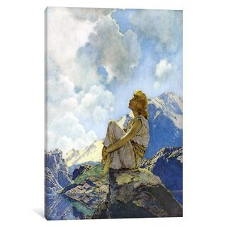 iCanvas 'Morning' by Maxfield Parrish Canvas Print