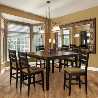 Hillsdale Furniture Killarney Black and Antique Brown Counter Height Butterfly Leaf Table