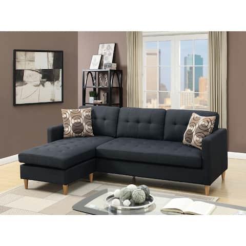 Mendosia Reversible Tufted Sectional Sofa