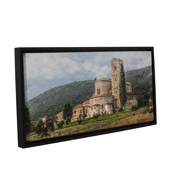 Scott Medwetz's 'Castle in Tuscany' Gallery Wrapped Floater-framed Canvas